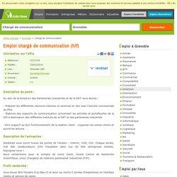 Chargé de communication Intérim - Grenoble (38)