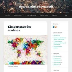 L'importance des couleurs - Communication internationale