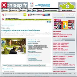 chargé de communication interne - chargée de communication interne