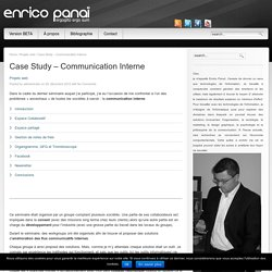 Case Study – Communication Interne « Enrico PANAÏ