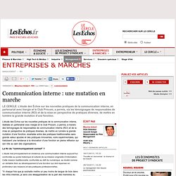 Communication interne : une mutation en marche