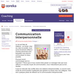 Communication interpersonnelle - Ooreka