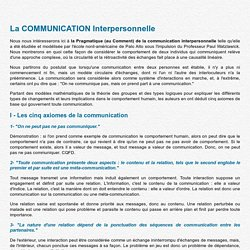 La communication interpersonnelle