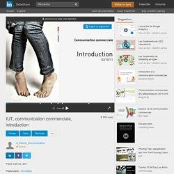 IUT, communication commerciale, introduction