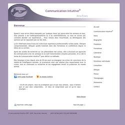 Accueil - La Communication Intuitive / Anna Evans / Formation en communication avec les animaux ou l'animal