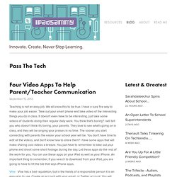 Four Video Apps To Help Parent/Teacher Communication