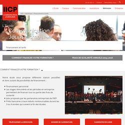 Frais de scolarité à l'IICP - Ecole Communication Journalisme à Paris