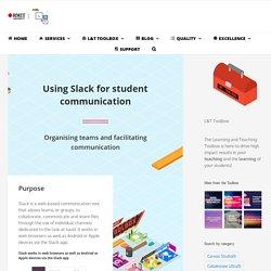 Using Slack for student communication – Learning and Teaching Hub