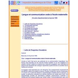 Langue et communication orale l'cole maternelle