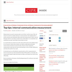 ciprinside.co.ukTop tips: internal communication measurement