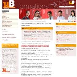 Master recherche Communication et médiations
