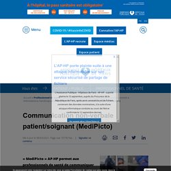 Communication non-verbale patient/soignant (medipicto)