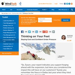 Thinking on Your Feet - Communication Skills from MindTools.com