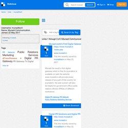Munadi Communication's Bookmarks (User munaditech)