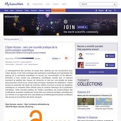 L'Open Access : vers une nouvelle pratique de la communication scientifique