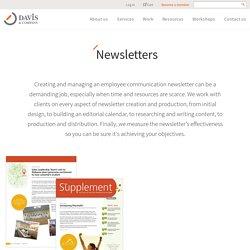 Employee Communication Newsletter Design Templates & Samples