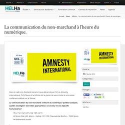 La communication du non-marchand à l'heure du numérique. - HELHa -Haute École Louvain en Hainaut » HELHa –Haute École Louvain en Hainaut