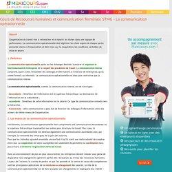Cours de Ressources humaines et communication Terminale STMG - La communication opérationnelle