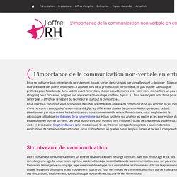 L'importance de la communication non-verbale en entretien - Gestion des ressources humaines et optimisation de votre recrutement - L'offre RH