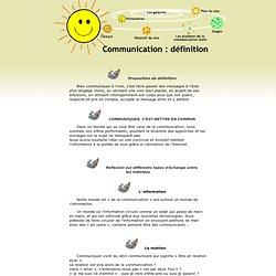 Communication orale - Définition de la communication