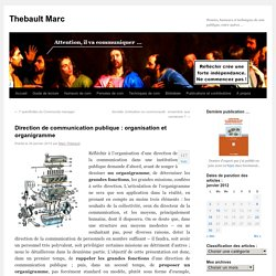 Direction de communication publique : organisation et organigramme