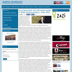 Johns Hopkins - Health and Education South Africa