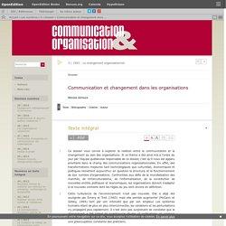 Communication et changement dans les organisations