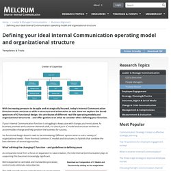 Defining your ideal Internal Communication operating model and organizational structure