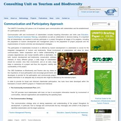 Consulting Unit on Tourism and Biodiversity