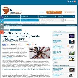 MOOCs : moins de communication et plus de pédagogie, SVP