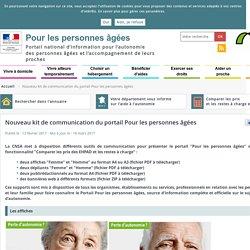 Nouveau kit de communication du portail : Pour les personnes âgées, mars 2017