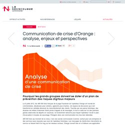 Communication de crise d'Orange : analyse, enjeux et perspectives