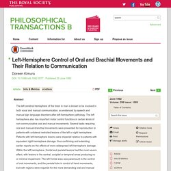 Left-Hemisphere Control of Oral and Brachial Movements and Their Relation to Communication