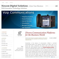 Diverse Communication Platforms for the Business World