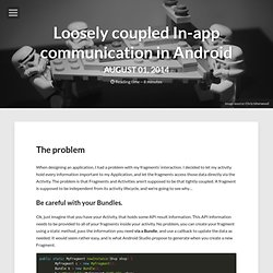 Loosely coupled In-app communication in Android – Mickael's Android Playground