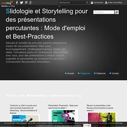 marketing - communication - Slidologie et Storytelling pour des présentations percutantes : Mode d'emploi et Best-Practices