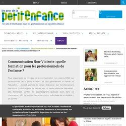 Communication Non-Violente : quelle formation pour les professionnels de l'enfance ?
