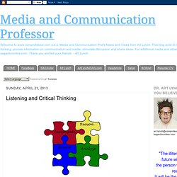 Communication Professor: Listening and Critical Thinking