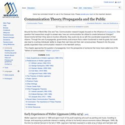 Communication Theory/Propaganda and the Public
