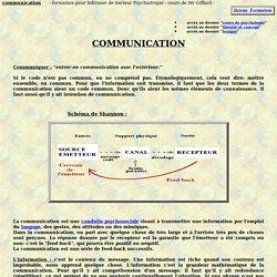 communication definition theorie psychologique cours de psychologie formation infirmiere