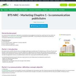 cours marketing BTS NRC : la communication publicitaire