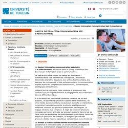 Toulon : Master E-rédactionnel