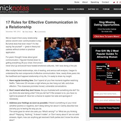 17 Rules for Effective Communication in a Relationship