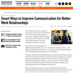 Smart Ways to Improve Communication for Better Work Relationships