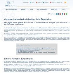Communication Web et gestion de la réputation