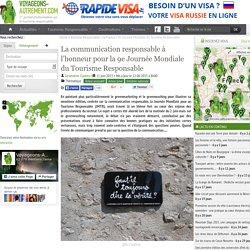 La communication responsable à l'honneur pour la 9e Journée Mondiale du Tourisme Responsable