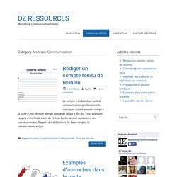 Communication Archives - OZ RESSOURCES