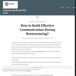 How to Build Effective Communication During Restructuring?