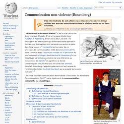 Communication non-violente (Rosenberg)