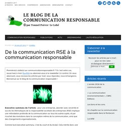 De la communication RSE à la communication responsable